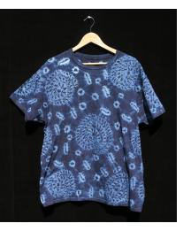 Indigo Tie-dye T-shirt by Gasali Adeyemo - Extra Large