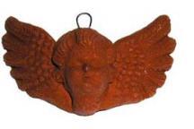 Medium Natural Clay Angel Face