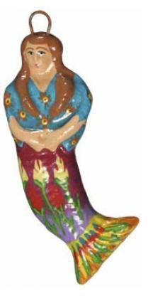 """La Sirena"" Guatemalan Mermaid Ornament"