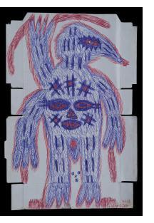 Untitled (Spirit Figure with Bird Head)