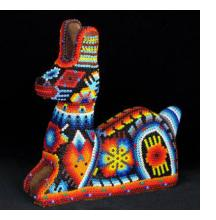 Huichol Beaded Sculpture from Mexico