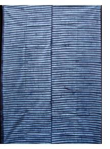 "Yoruba ""Adire Alabere"" Machine-stitch Resist Indigo-dyed Cotton Cloth"
