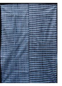 "Yoruba ""Adire Alabere"" Machine-Stitched resist Indigo-dyed Cotton Cloth"