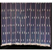 Baule Indigo ikat strip-weave cotton fabric