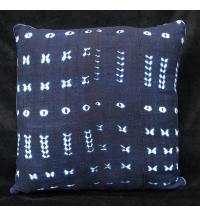 Indigo Tie-dye Pillow from Burkina Faso