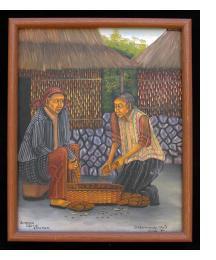 Desgranando Maiz (grinding maize)