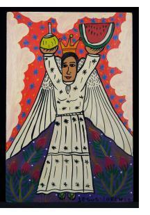 Angela con Frutas