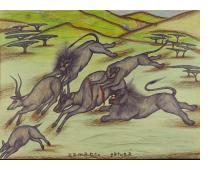Lions Attacking Gazelles