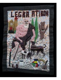 Legba Atibon - Vodou flag