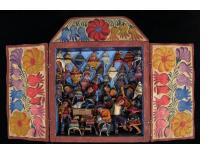 Tienda de Chullos (Andean Hat Shop) Retablo (Medium)