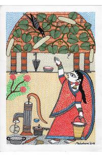 Woman Waving Away the Crow