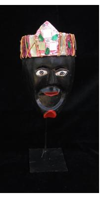 """""""Negrito"""" Mask with Crown from  Michoacan"""