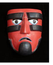 """Guerrero"" Ball-player Mask attributed to Victoriano Salgado of Michoacan"