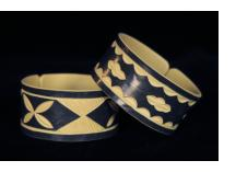 """""""Faux Ivory"""" PVC Bracelets from Namibia - Wide Cuff"""