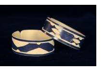 """Faux Ivory"" PVC Bracelets from Namibia - Medium Cuff"
