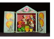 Fruit Seller of the Dead - retablo