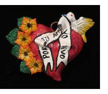 """""""Por tu amor yo vivo"""" Retablo Heart Ornament"""
