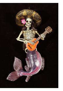 La Sirena Calavera Mariacha - retablo figure