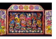 Masked Carnaval Avelino Musicians (Fiesta) - Retablo