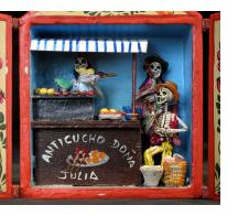 Anticuchos Vendor of the Dead - Retablo