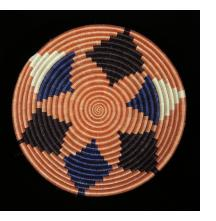 Medium Terra Cotta, Indigo and Black Star Basket