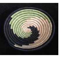 Small Green, Black and Tea Spiral basket