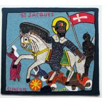 """""""St. Jacques"""" Vodou Flag"""