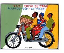 """Taxi Moto du Togo"" Mini Signboard"