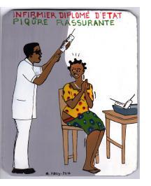 """""""Infirmier Diplomé D'Etat.  Picure Rassurante"""" Mini Signboard"""