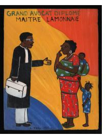 Grand Avocat Diplomé Maitre Lamonnaie - Mini Signboard