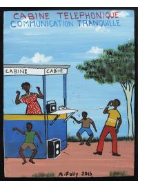 Cabine Telephonique. Communication Tranquille - Mini Signboard