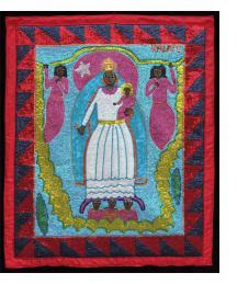 """Virgen de la Caridad/Oshun"" Vodou Flag"