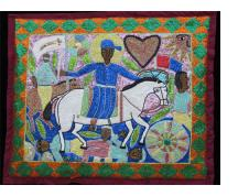 Saint Jacques/Ogou Sequinned Vodou Banner