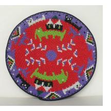 "Imbenge Zulu ""Hardwire""Wire Basket - pictorial style"