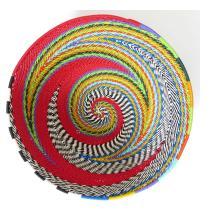 Imbenge Zulu Telephone Wire Basket (medium bowl shape) - Red Multicolor