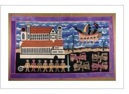 """William Adjété Wilson's quilt, """"The Black Ocean,"""""""