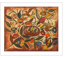 Hector Hyppolite, Birds and Flowers (1946-47), which was in the collection of Jonathan Demme before selling at auction in 2014. COURTESY MATERIAL CULTURE