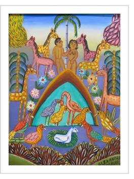 Adam and Eve in the Garden of Eden - Alexandre Gregoire (Haiti)