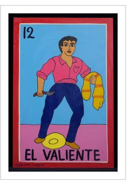 El Valiente - Loteria Card Painting