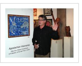 D.R. Mullins at Appalachian Visionaries opening. Oct. 13, 2011