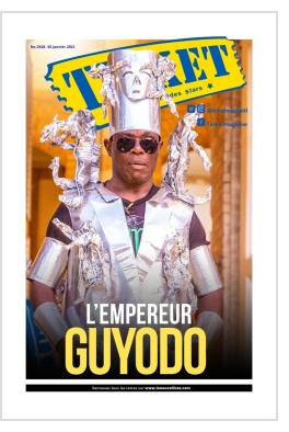 """Guyodo cover photo on occasion of the """"Rèl"""" show at Le Centre d'Art in Port-au-Prince - January 2021."""
