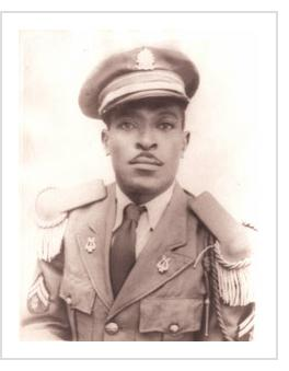 Alexandre Gregoire in his army uniform. Date unknown. Courtesy of Liz McClory.