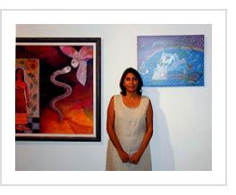 Alicia Leal in her studio. Havana, November 2003