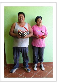 Armando Jimenez and Antonia Carrillo. Arrazola, Oaxaca, 2010. (Photograph © Anthony Hart Fisher, 2010)