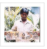 Bengali artist Montu Chitrakar (photo courtesy of Minhazz Majumdar).