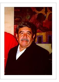 Rodolfo Morales at Indigo Arts Gallery. March, 1997 (Photograph © Anthony Hart Fisher)