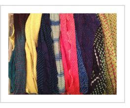Bandhani Tie-dye Scarves from Gujarat, India