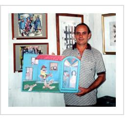 José Basulto in his studio, Cienfuegos, Cuba. November, 2003.