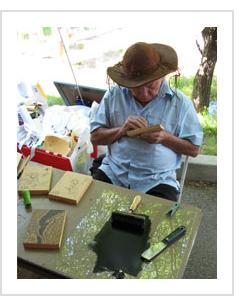 Abraão Batista at the International Folk Art Market, 2007 (Photo by A H Fisher)