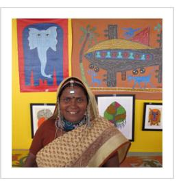 Bhuri Bai in Santa Fe, NM, July, 2013 ( Photograph © 2013 Anthony Hart Fisher).